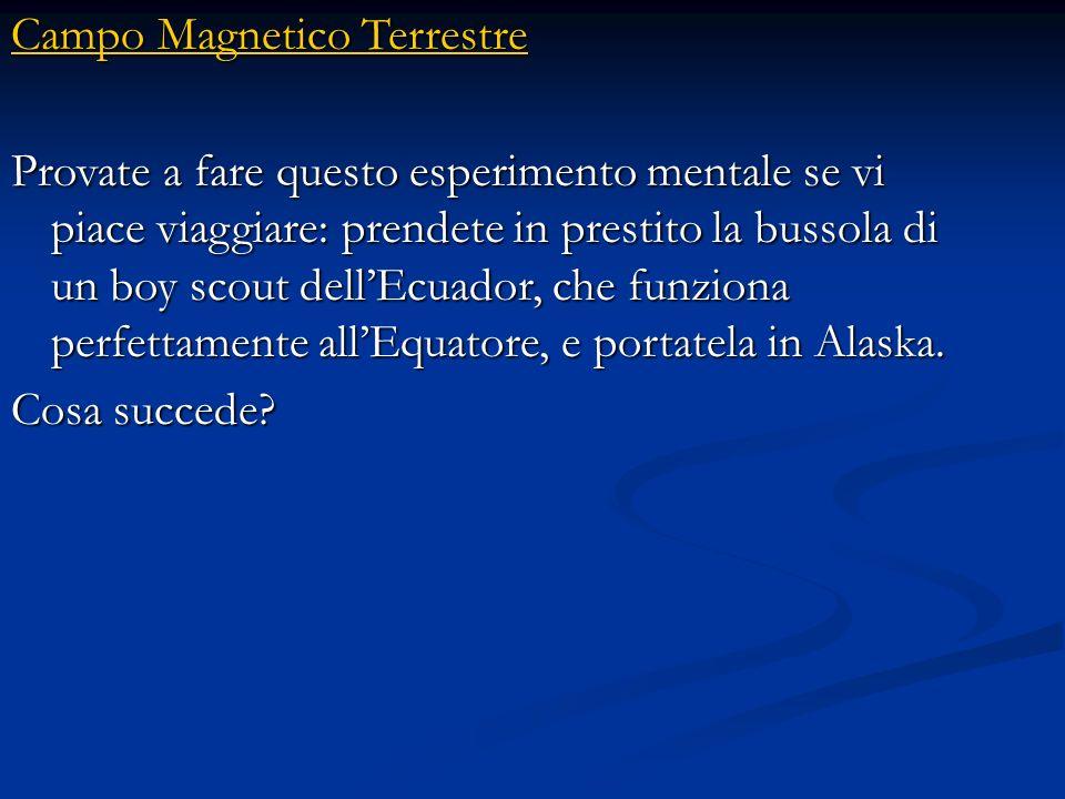 Campo Magnetico Terrestre Campo Magnetico Terrestre Chi ha usato la bussola in navigazione ricorderà che esso non indica esattamente il nord. Lago del