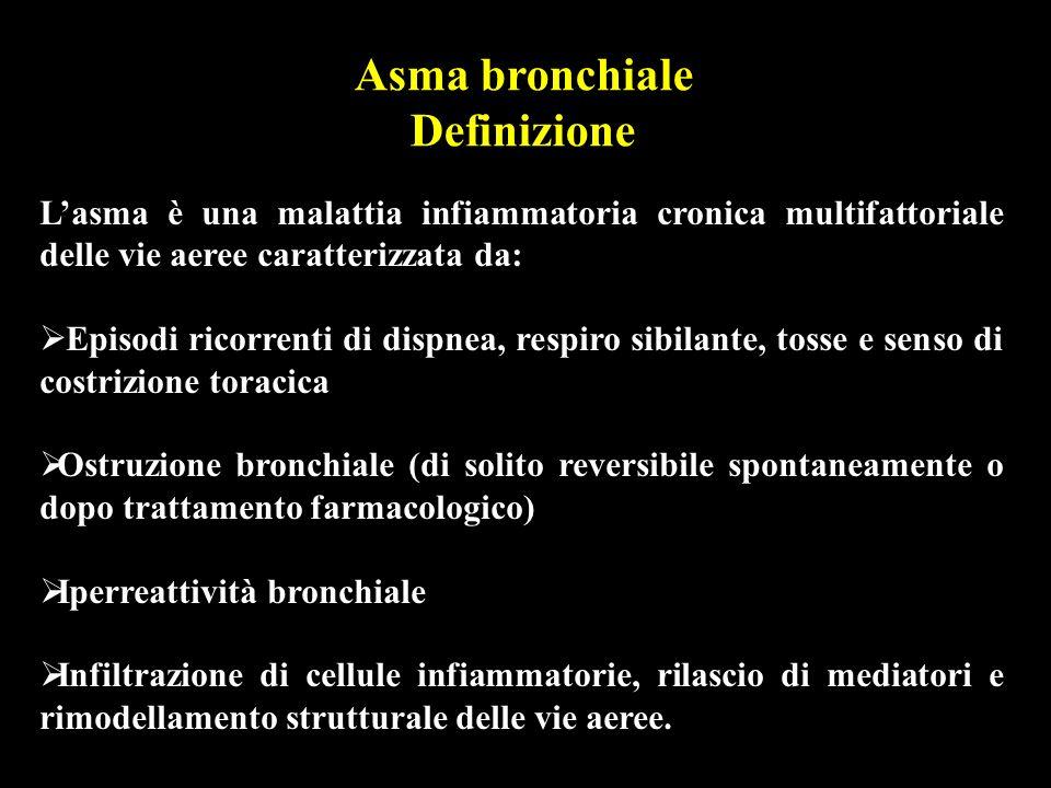 Controllo dei fattori ambientali TERAPIA DELL ASMA BRONCHIALE I bronchi del bambino asmatico sono particolarmente reattivi per cui è opportuno che lambiente in cui vive sia, per quanto possibile, privo di vari fattori che possono risultare irritanti, in modo più o meno specifico.