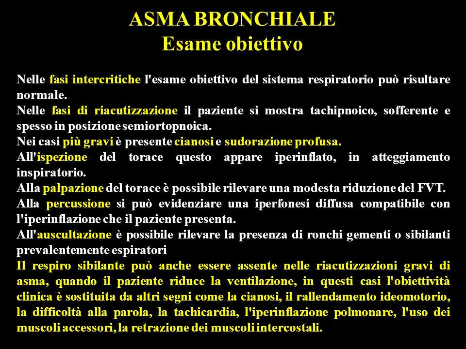 TERAPIA DELL ASMA BRONCHIALE La terapia dell asma bronchiale è distinta in tre aspetti: la terapia farmacologica il controllo dei fattori ambientali limmunoterapia