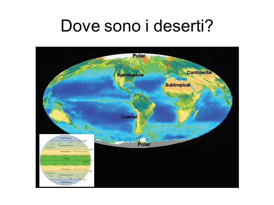 Dove sono i deserti?