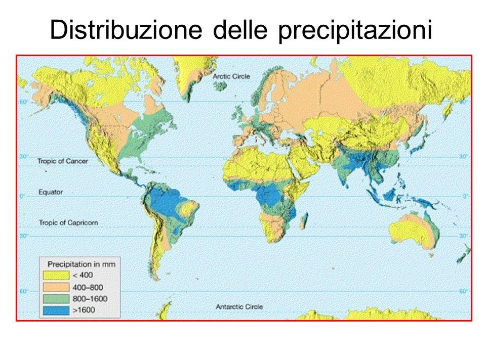 Distribuzione delle precipitazioni