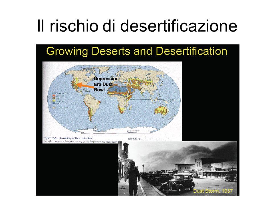 Il rischio di desertificazione