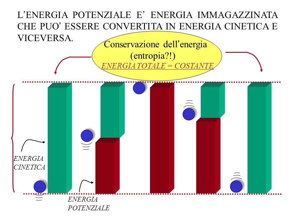 L ENERGIA POTENZIALE E ENERGIA IMMAGAZZINATA CHE PUO ESSERE CONVERTITA IN ENERGIA CINETICA E VICEVERSA. ENERGIA CINETICA ENERGIA POTENZIALE ENERGIA TO
