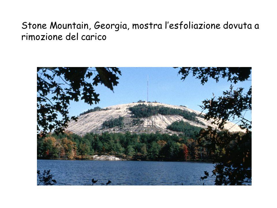 Stone Mountain, GA Stone Mountain, Georgia, mostra lesfoliazione dovuta a rimozione del carico