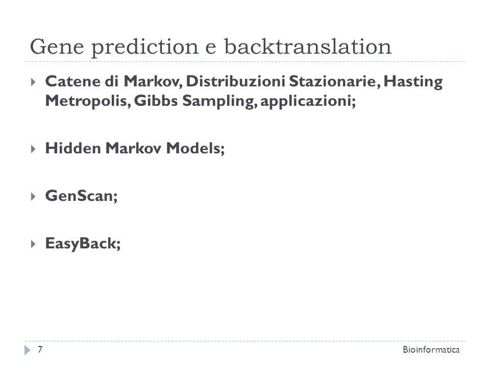 MFOLD; Bioinformatica8 Predizione della struttura secondaria