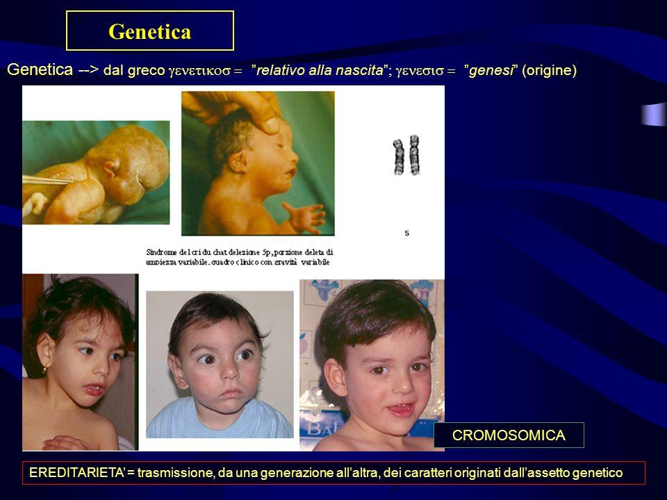 Genetica Genetica --> dal grecorelativo alla nascitagenesi (origine) EREDITARIETA = trasmissione, da una generazione allaltra, dei caratteri originati