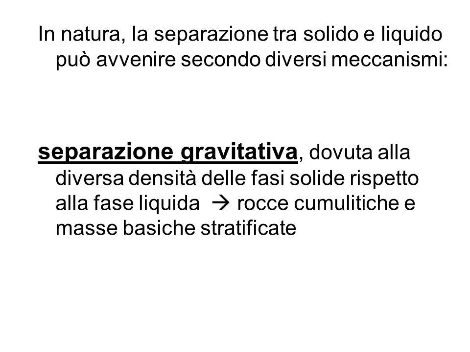 In natura, la separazione tra solido e liquido può avvenire secondo diversi meccanismi: separazione gravitativa, dovuta alla diversa densità delle fas