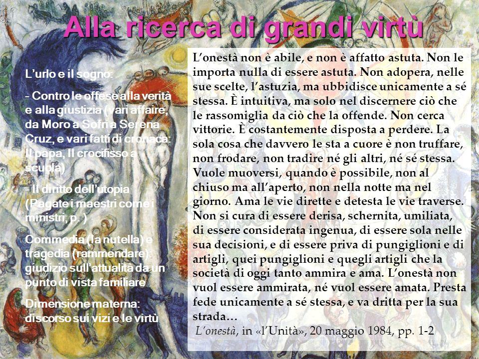 Lurlo e il sogno: - Contro le offese alla verità e alla giustizia (vari affaire, da Moro a Sofri a Serena Cruz, e vari fatti di cronaca: Il papa, Il c