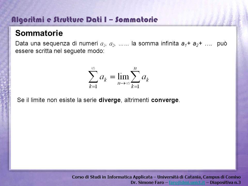 Corso di Studi in Informatica Applicata – Università di Catania, Campus di Comiso Dr. Simone Faro – faro@dmi.unict.it – Diapositiva n.3faro@dmi.unict.