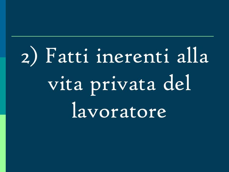 Fatti esterni comunque riconducibili alla nozione di inadempimento Vincenzo C., dipendente con mansioni di operaio, si è assentato per malattia, essen