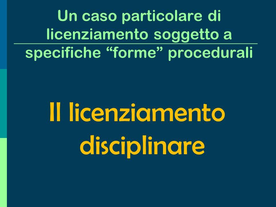 Fattispecie di licenziamento invalido, diverse dalla annullabilità (mancanza di giusta causa o giustificato motivo) Il licenziamento nullo Discriminat