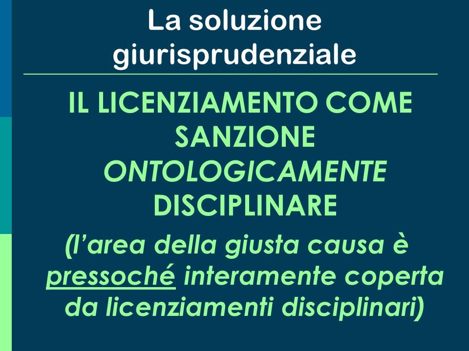 Le diverse conseguenze pratiche sul piano procedurale Se il licenziamento è qualificato come sanzione disciplinare Se il licenziamento non è qualifica