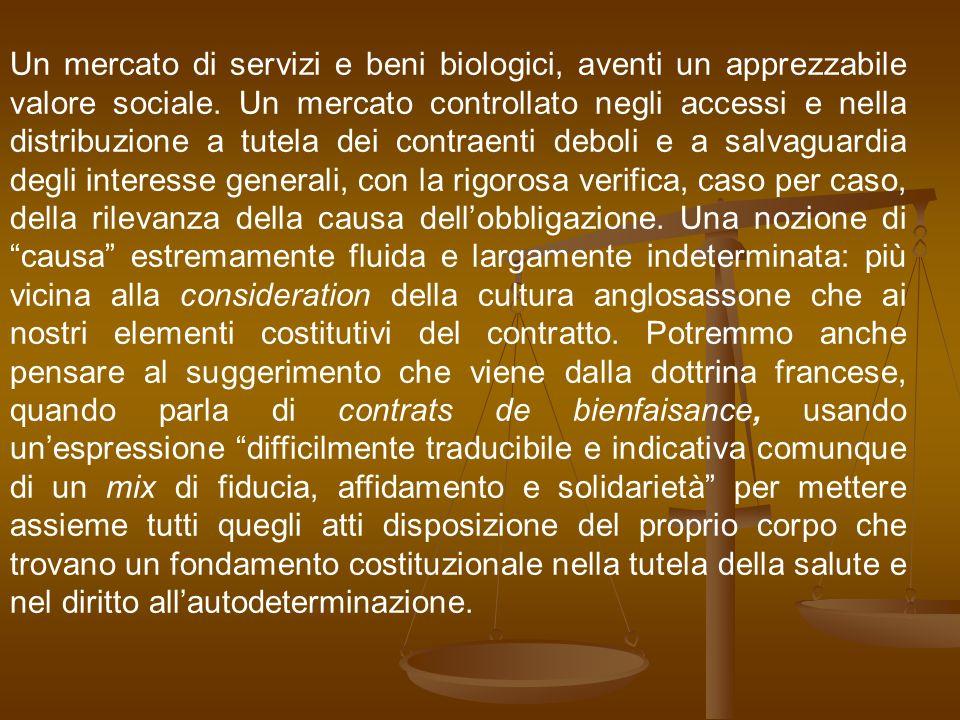 Un mercato di servizi e beni biologici, aventi un apprezzabile valore sociale. Un mercato controllato negli accessi e nella distribuzione a tutela dei