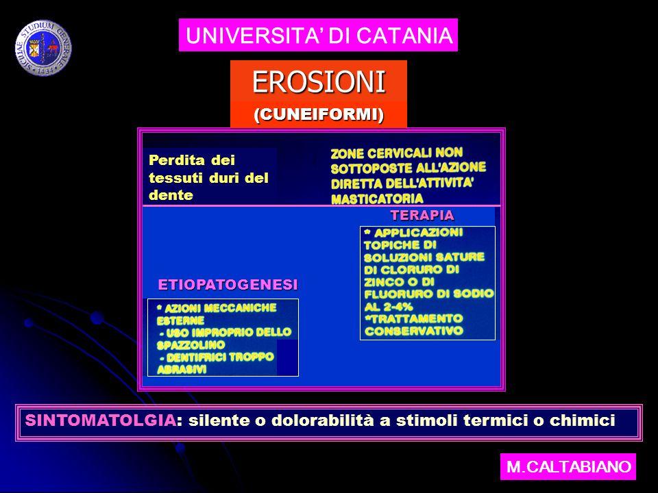 UNIVERSITA DI CATANIA M.CALTABIANO EROSIONI CASI CLINICI