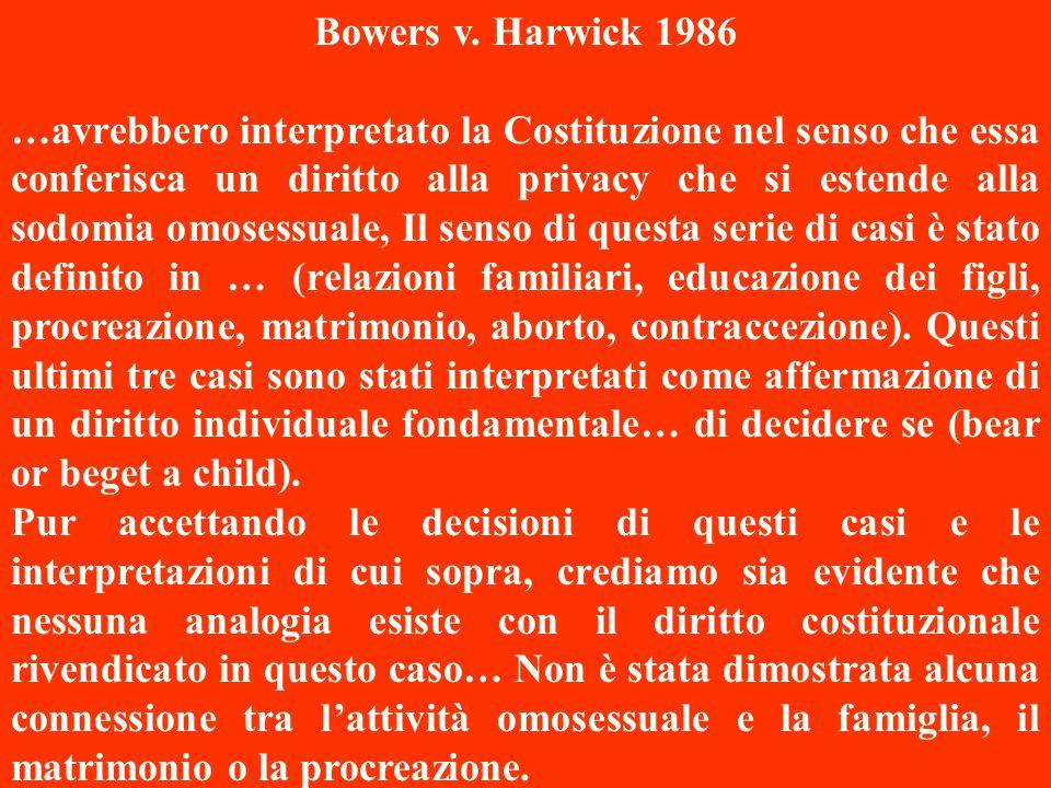 Right to have offsprings Privacy No entry – Bodily invasion Famiglia = automia nella pianificazione familiare Sessualità = autodeterminazione nella sf