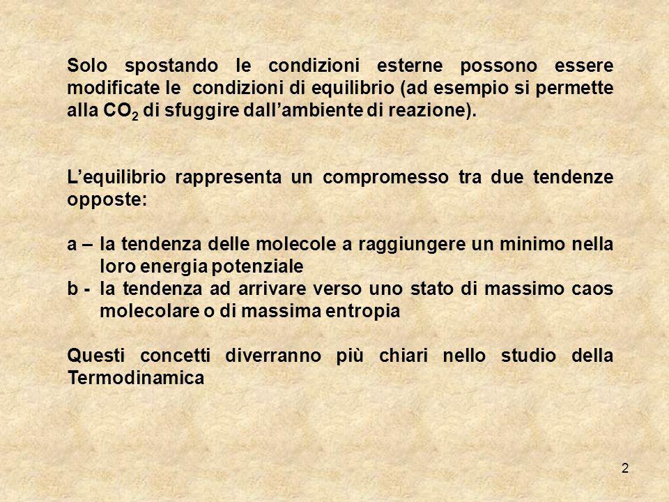 13 Dobbiamo ancora determinare la dipendenza della concentrazione dal tempo, cioè la costante di velocità.
