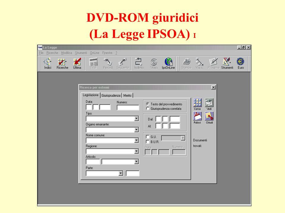 DVD-ROM giuridici (La Legge IPSOA) I