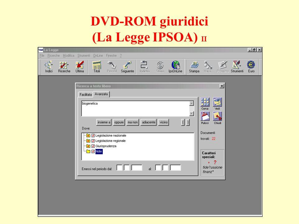 DVD-ROM giuridici (La Legge IPSOA) II
