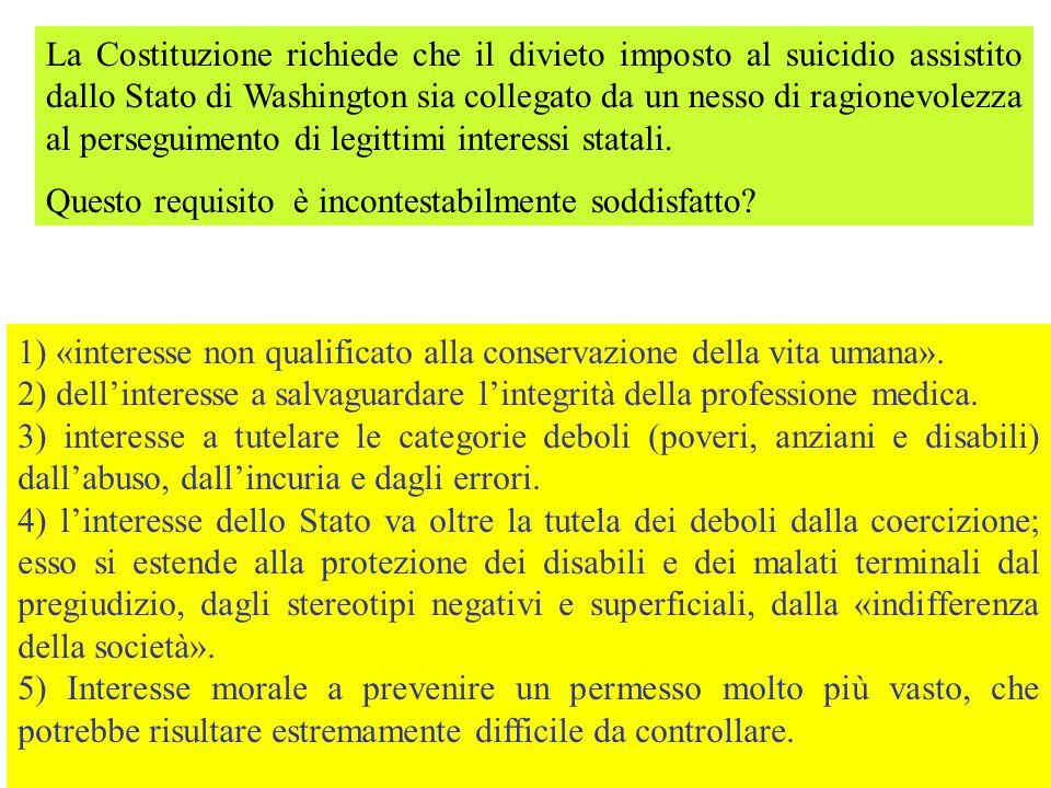 1) «interesse non qualificato alla conservazione della vita umana». 2) dellinteresse a salvaguardare lintegrità della professione medica. 3) interesse