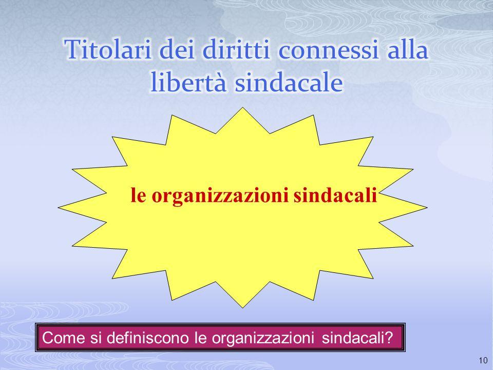9 Rilievo internazionale del principio di tutela della libertà sindacale Convenzione per la salvaguardia dei diritti delluomo e delle libertà fondamen