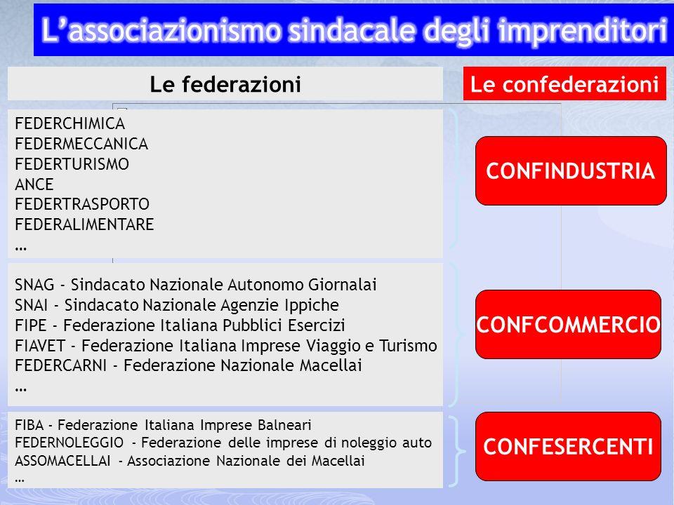 La federazione nazionale di categoria (espressione verticale di un sindacalismo di industria)