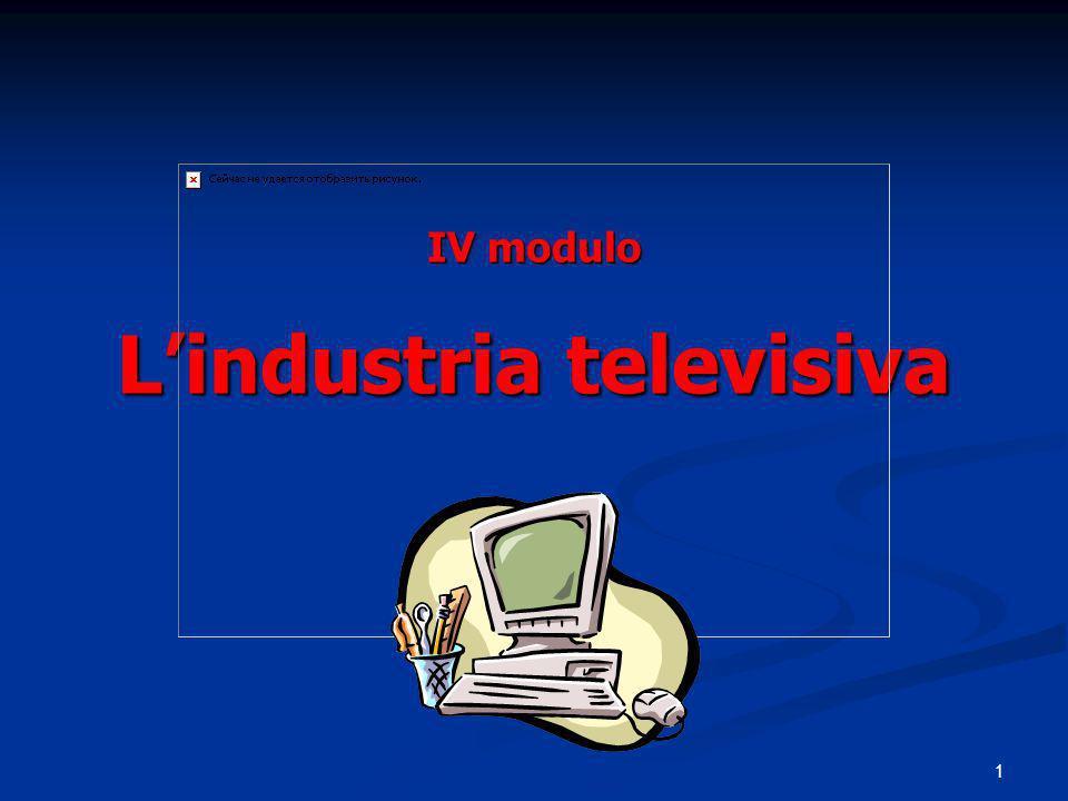 1 IV modulo Lindustria televisiva