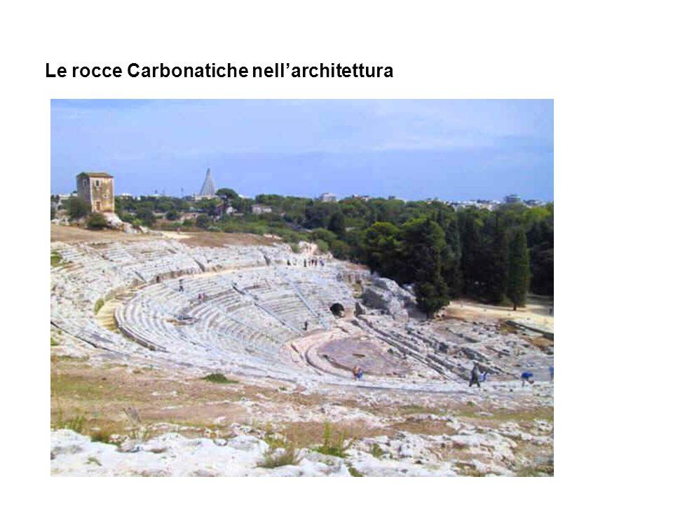 Le rocce Carbonatiche nellarchitettura