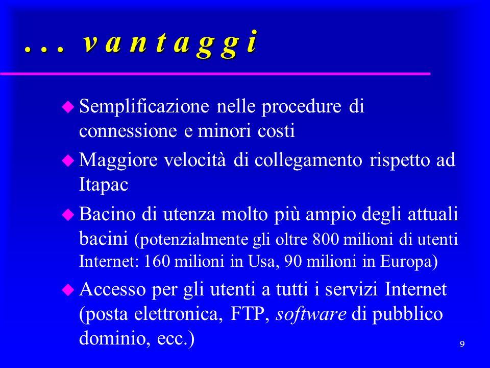 8 Raccolte e banche di dati giuridici, in Italia: u fino al 1998/99: Italgiure, Parlamento e Poligrafico dello Stato, tramite gateway del CNR (IDG-CNR) + Archivi prodotti dallIDG u da allora in poi: ciascun ente direttamente accessibile via Internet ------> (vantaggi)
