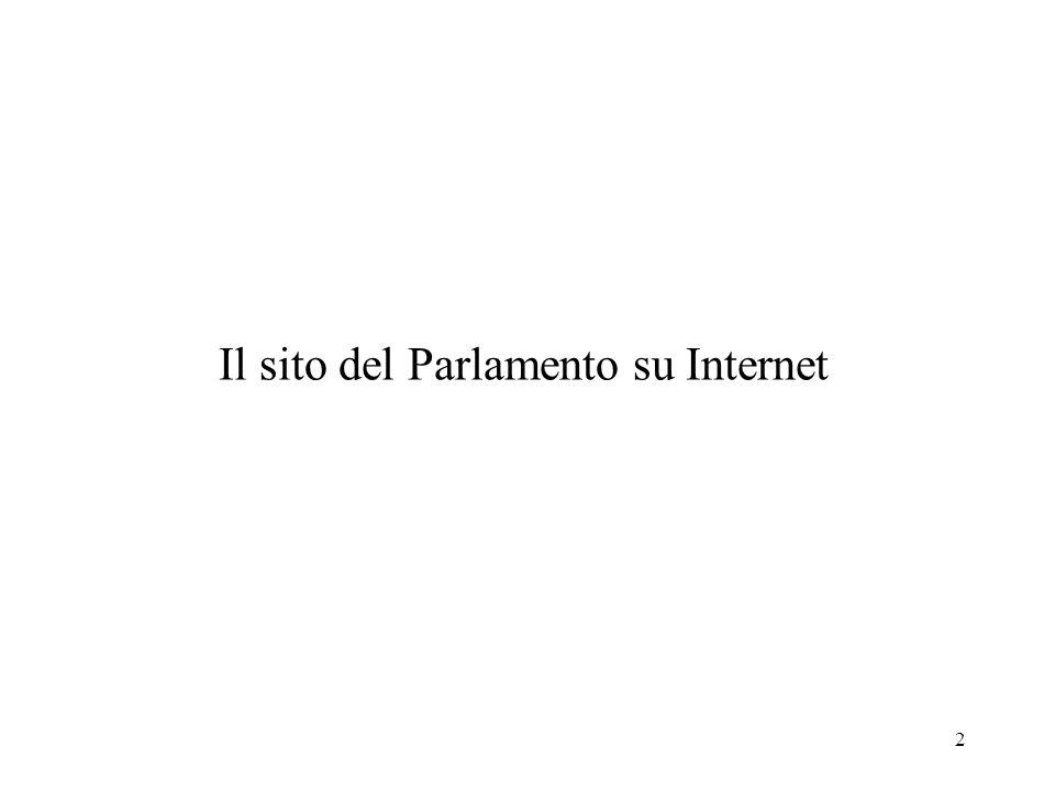 2 Il sito del Parlamento su Internet