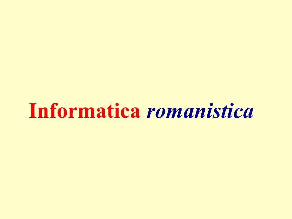 Informatica romanistica