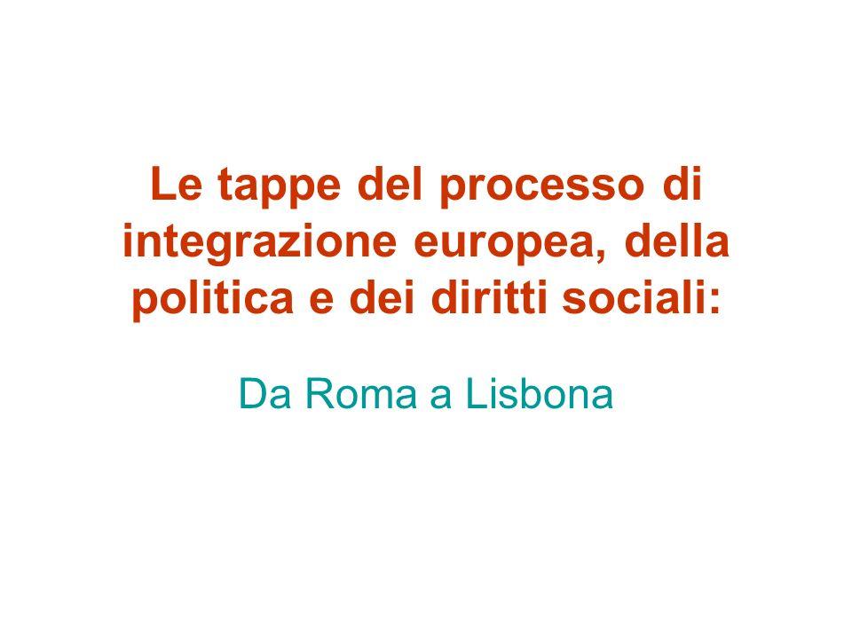 Il Trattato di Lisbona (2007/09) b) Nuova norma sugli obiettivi dellU.E.