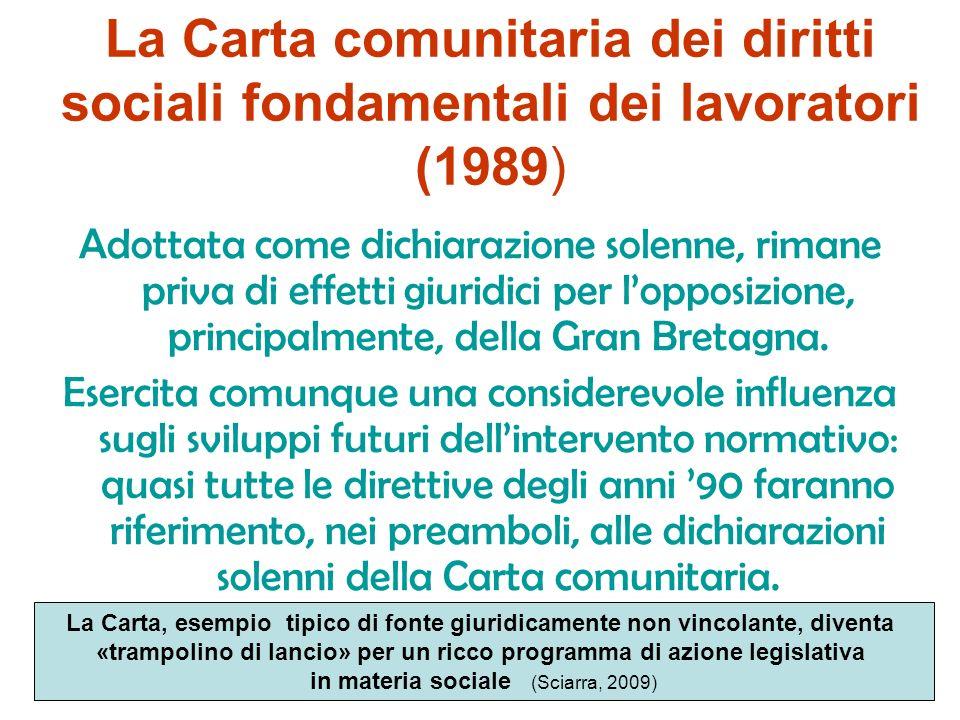 La direttiva quadro sulla tutela della salute e sicurezza dei lavoratori nei luoghi di lavoro (n. 391/89) simbolo del modello armonizzazione – alterna