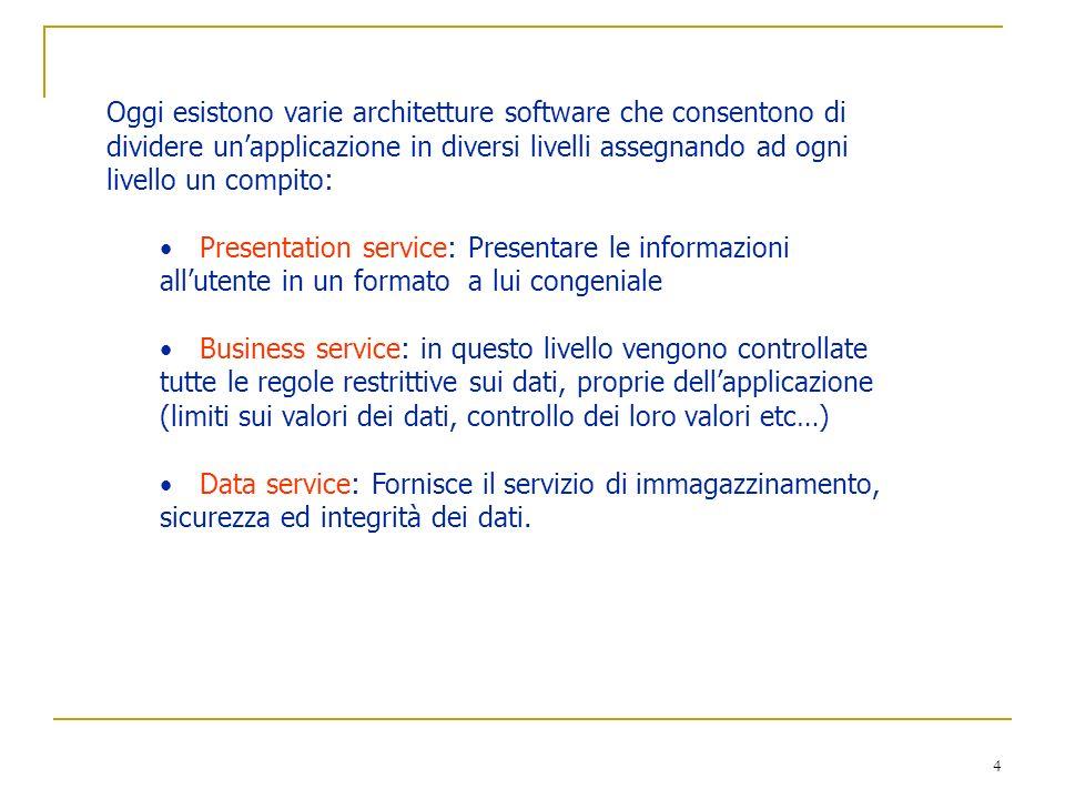 25 Associazioni Le cardinalità massime consentono di classificare le associazioni binarie in base al tipo di corrispondenza: Associazione 1 : 1 o biunivoca (uno a uno).
