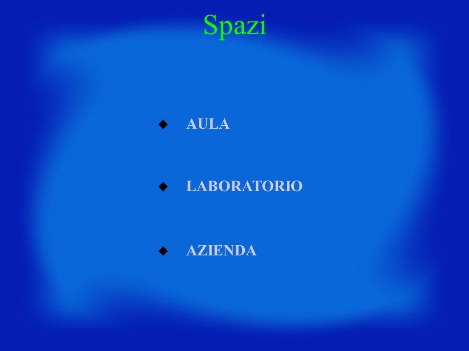 AULA LABORATORIO AZIENDA Spazi