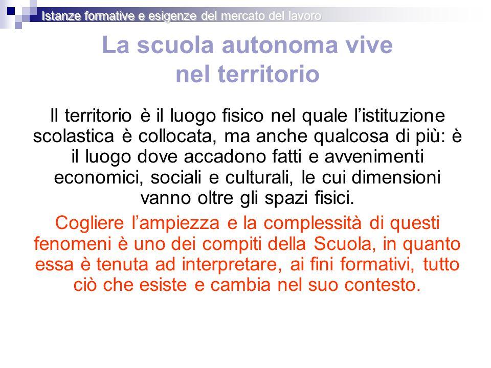 Gli spazi di manovra degli Istituti Istanze formative e esigenze del mercato del lavoro AREA GENERALE solo quota dellautonomia AREA INDIRIZZO quota di autonomia e quota di flessibilità Primo biennio 660 ore max.