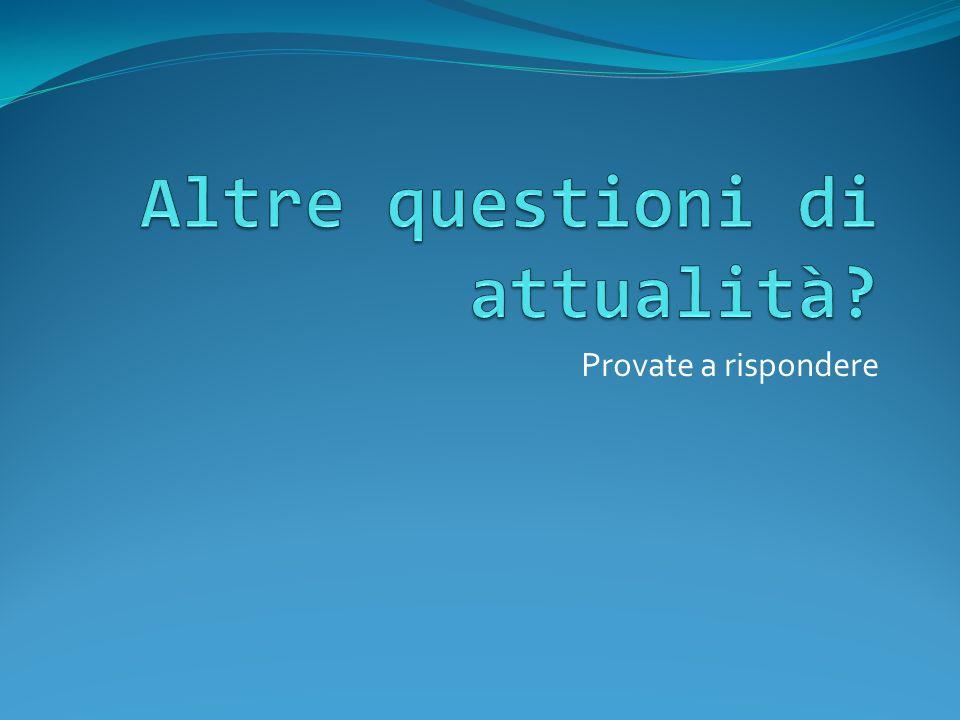 Provate a rispondere