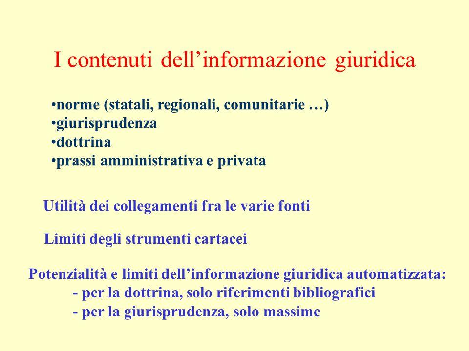 Documentazione automatica 1) Organizzazione dellinformazione 2) Trattamento dellinformazione 3) Recupero dellinformazione 4) Trasferimento dellinformazione