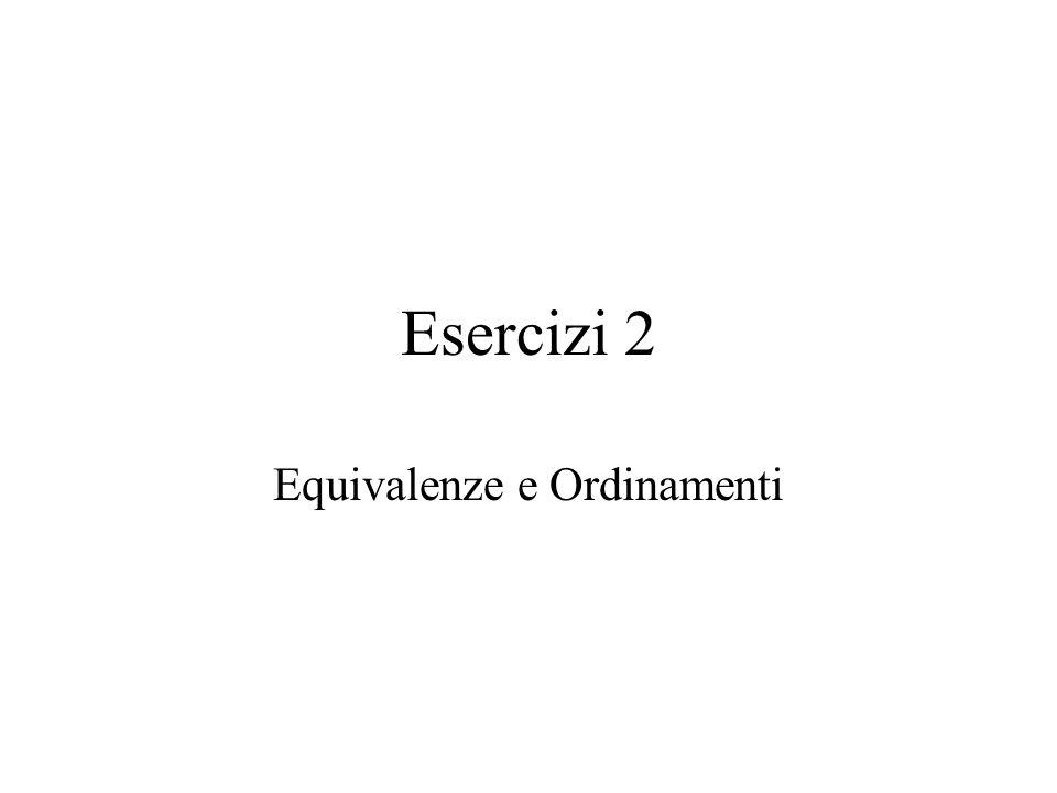 Esercizi 2 Equivalenze e Ordinamenti