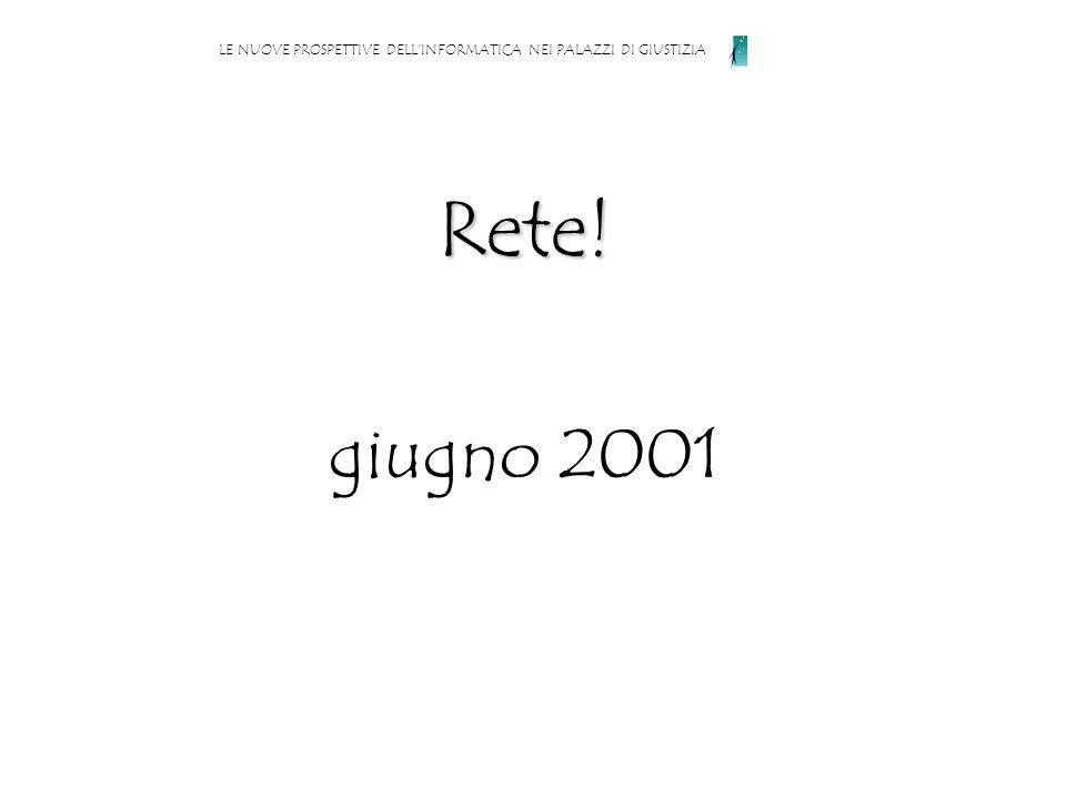 Rete! giugno 2001 LE NUOVE PROSPETTIVE DELLINFORMATICA NEI PALAZZI DI GIUSTIZIA