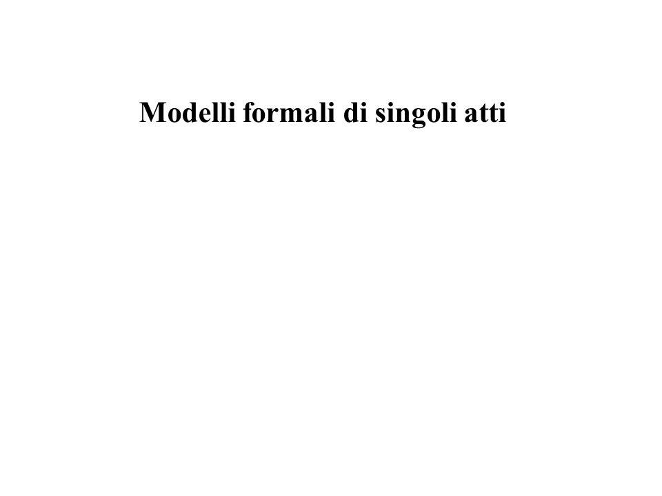 Modelli formali di singoli atti