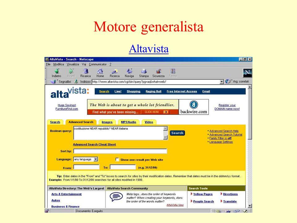 Altavista Motore generalista