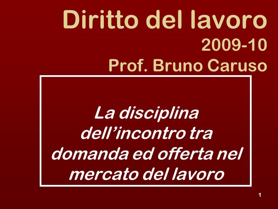 1 Diritto del lavoro 2009-10 Prof.