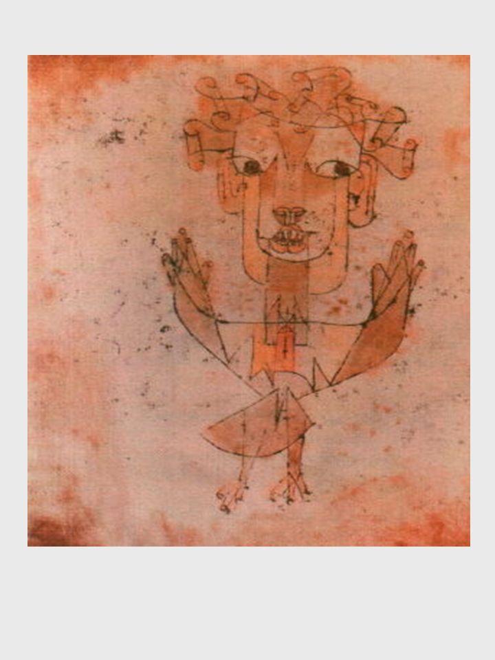 C è un quadro di Klee che s intitola Angelus Novus.