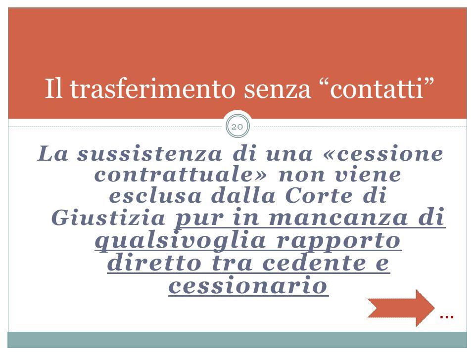 La soluzione italiana del 2001 Da alienante e acquirente a cedente e cessionario Ogni operazione che comporti il mutamento nella titolarità dellaziend