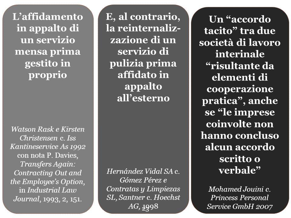 La dottrina Non si può dire che i giudici comunitari si siano lasciati condizionare dalla rigidità della dogmatica civilistica: «cessione contrattuale