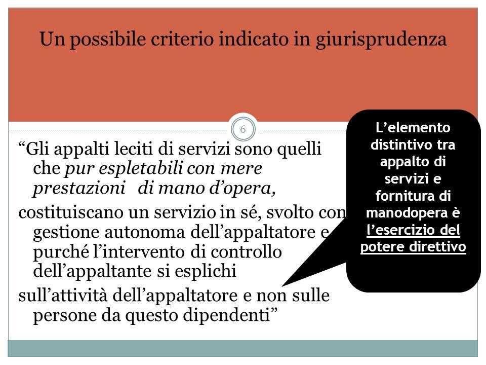 Nel caso dei servizi a bassa intensit à organizzativa, l attivit à si identifica essenzialmente con la manodopera utilizzata per svolgerla Quando può