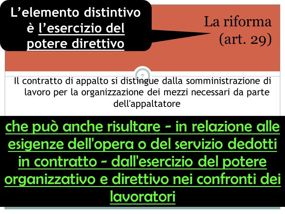 Cass.n. 21697/09 Per ramo d azienda, ai sensi dell art.