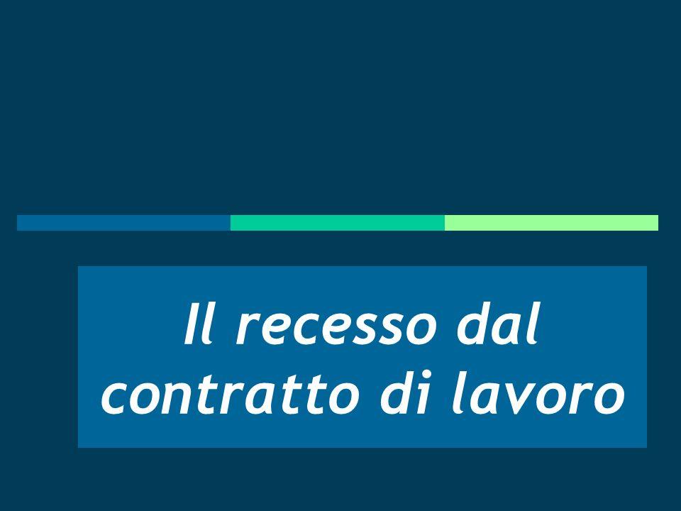 La tendenza evolutiva dellordinamento italiano: tre pilastri e due principi I pilastri normativi: La legge 604 del 1966 L art.