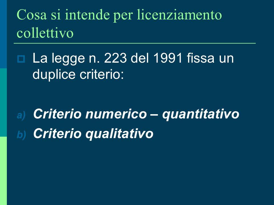 38 Il licenziamento collettivo e la specificità della disciplina di tutela (essenzialmente procedurale) LEGGE 23 luglio 1991, n. 223 (traspositiva di