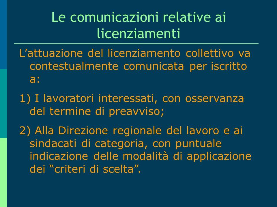 La dichiarazione di messa in mobilità (ovvero il licenziamento collettivo), entro 120 gg. dalla conclusione della procedura Lindividuazione dei lavora
